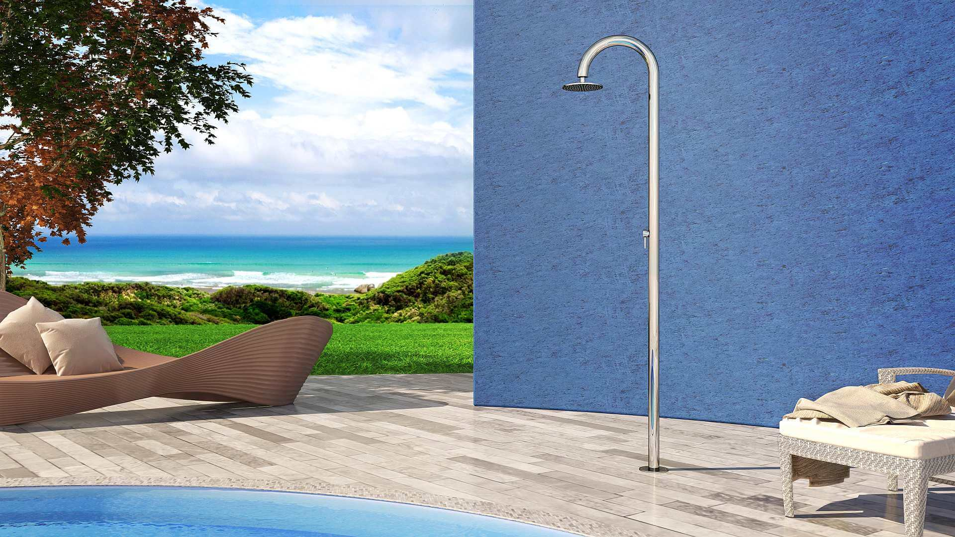 Picture Outdoor shower, pool, garden - Sole 60 Inoxstyle