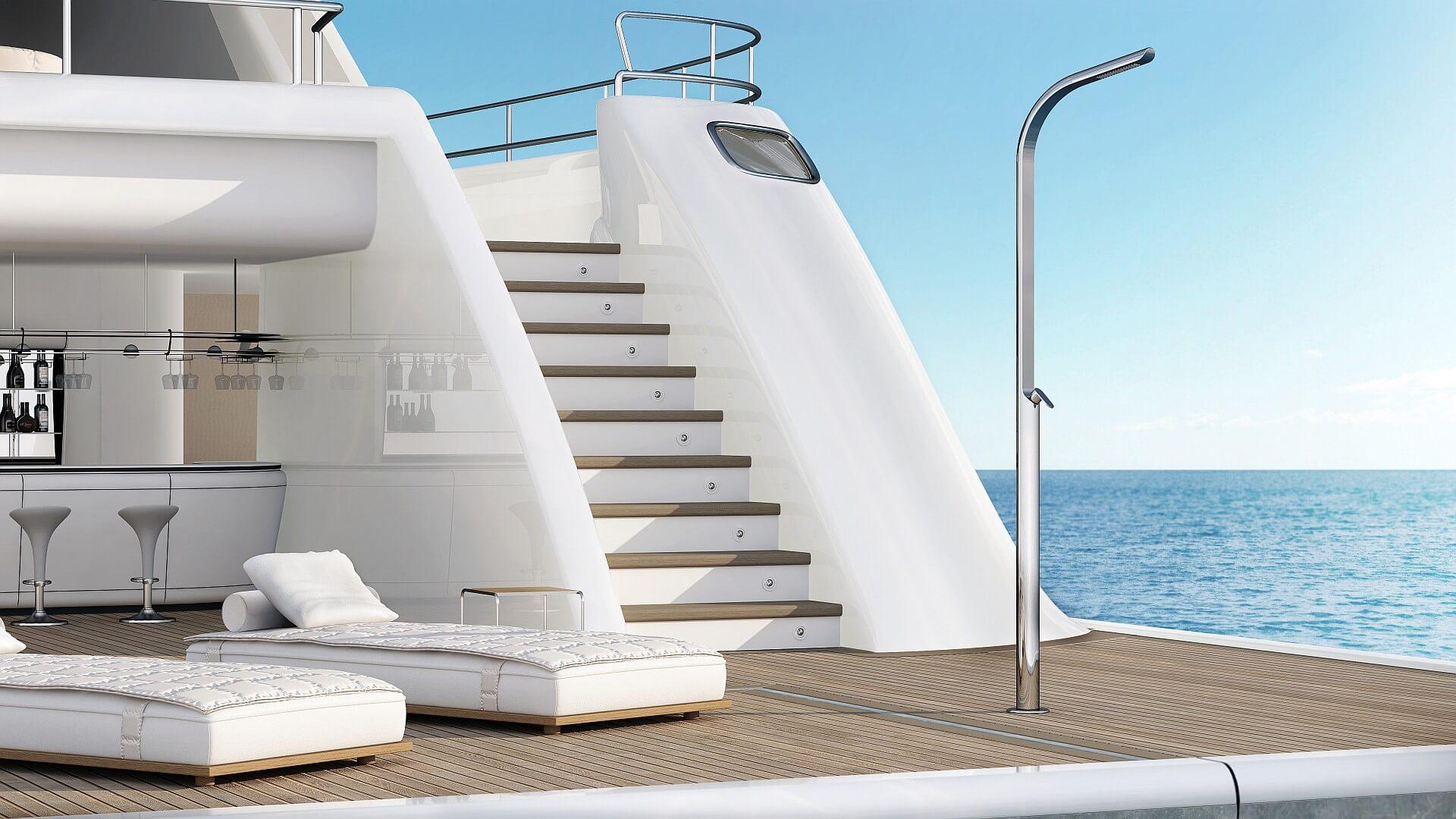 Photo douche extérieure, piscine, jardin - Dream Yacht Inoxstyle
